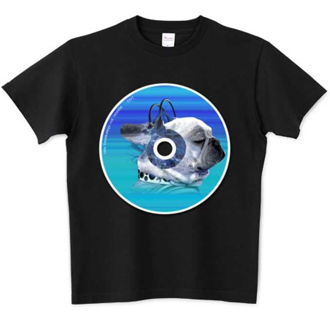 funnyfrench CDプリントフレブルTシャツ