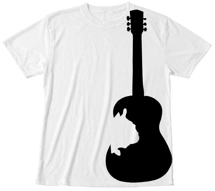 ビックプリントフレンチブルドッグギターTシャツ