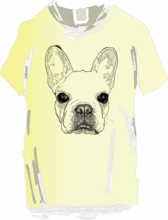 ドットのフレブルTシャツ
