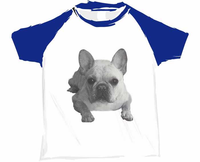 グラフィックトーンフレンチブルドッグTシャツ