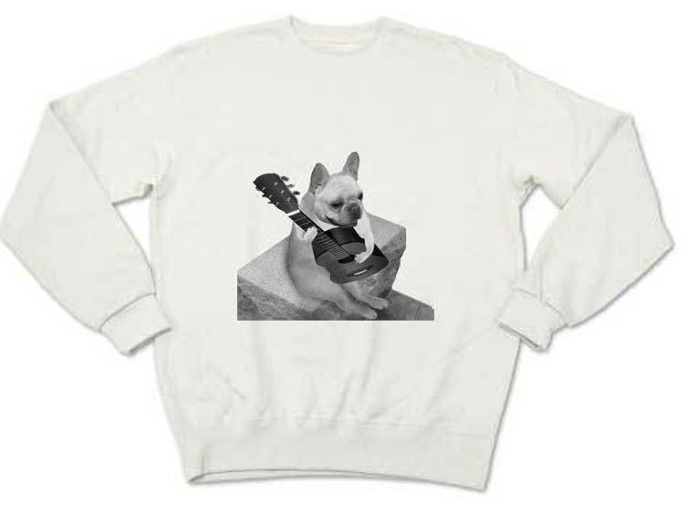 ギターフレンチブルドッグTシャツ