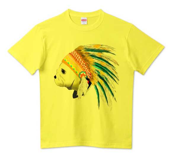 インディアンフレンチブルドッグTシャツ