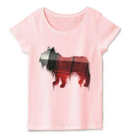 フレンチブルドッグのワッペンTシャツ