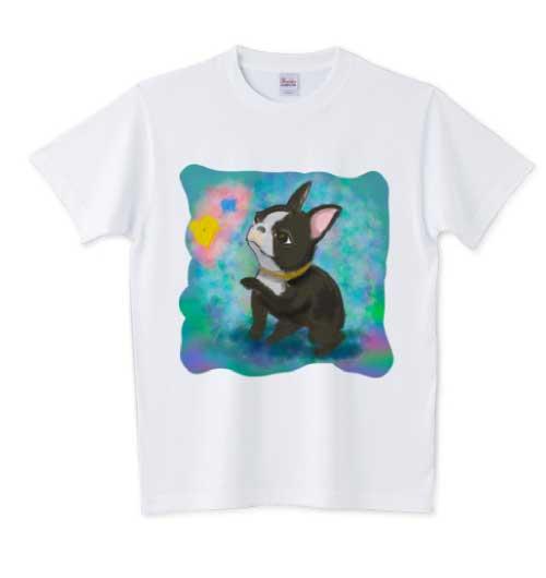 水彩風のフレンチブルドッグTシャツ