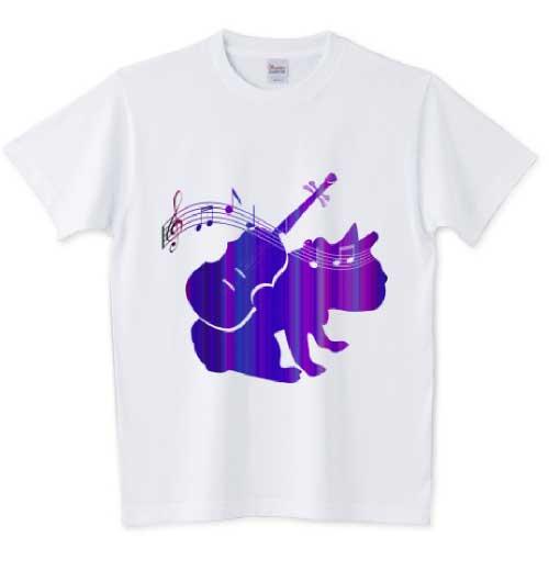 さすらいのバイオリン弾きのフレンチブルドッグTシャツ