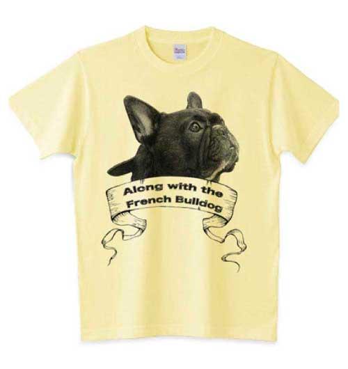 フレンチブルドッグクラシックデザインTシャツ