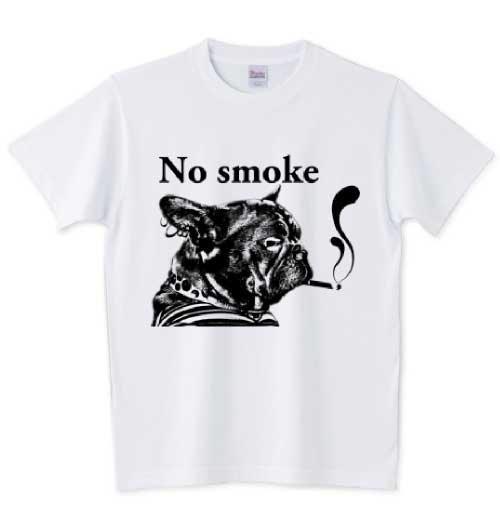 NO smokeの矛盾しているフレブルTシャツ