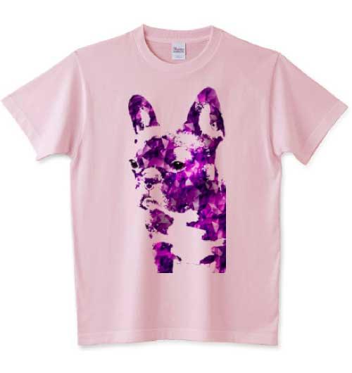 アメジストのフレンチブルドッグTシャツ