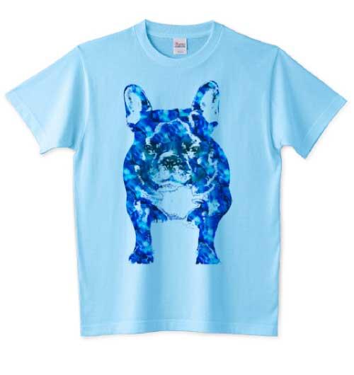 フレンチサファイアブルードッグTシャツ