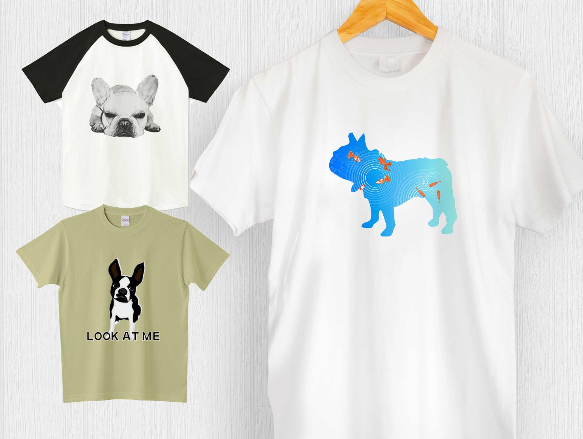 フレンチブルドッグTシャツ - レディース・メンズ・キッズ