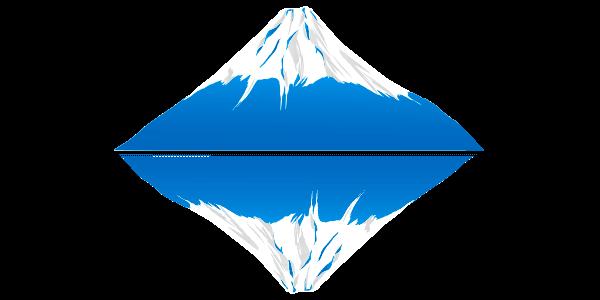 逆さ富士のイラスト