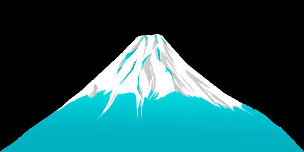 水色の富士山のイラスト
