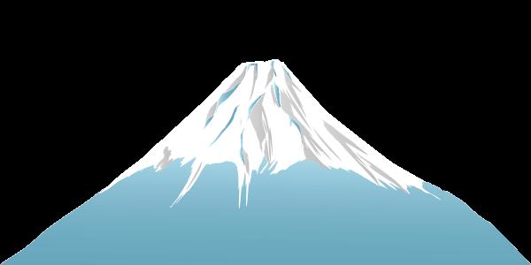 薄い水色の富士山のイラスト