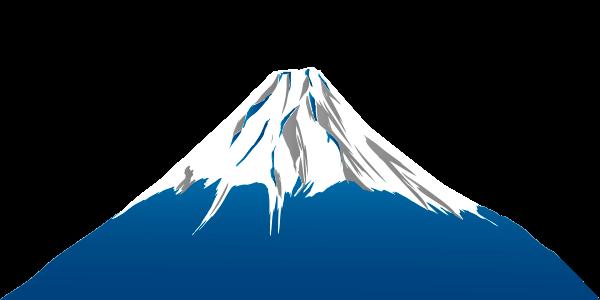 群青の富士山のイラスト