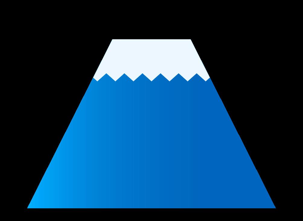 可愛い富士山のイラスト