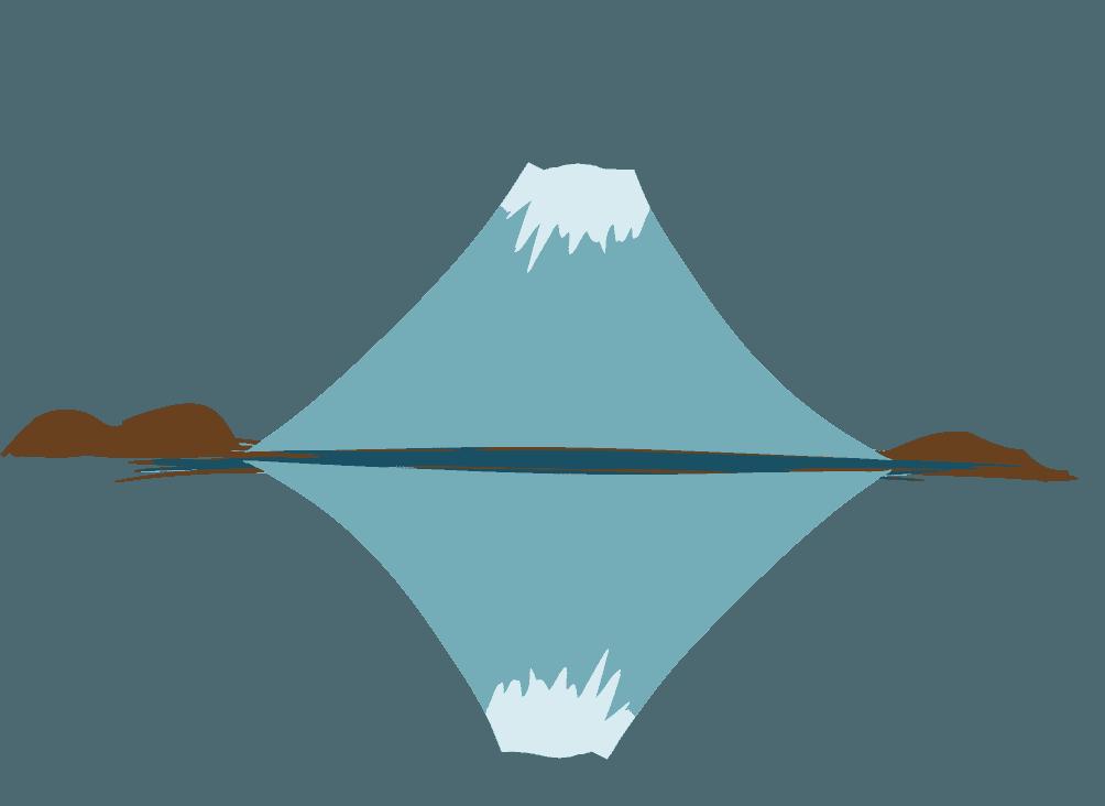 逆さ富士山のイラスト