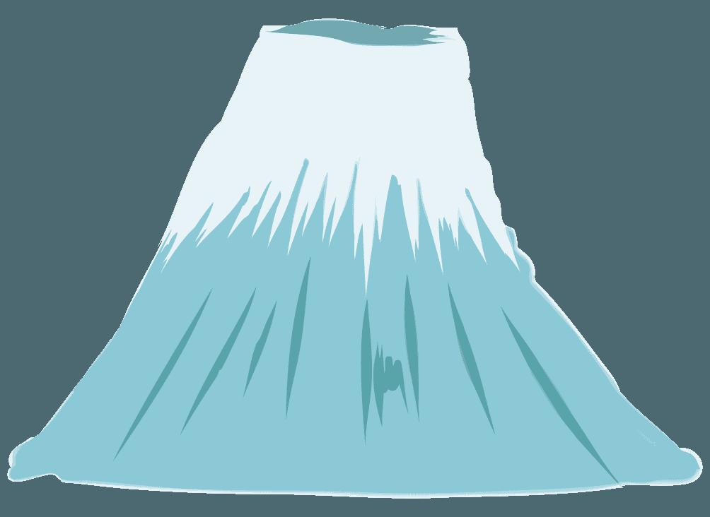 シンプルな富士山のイラスト