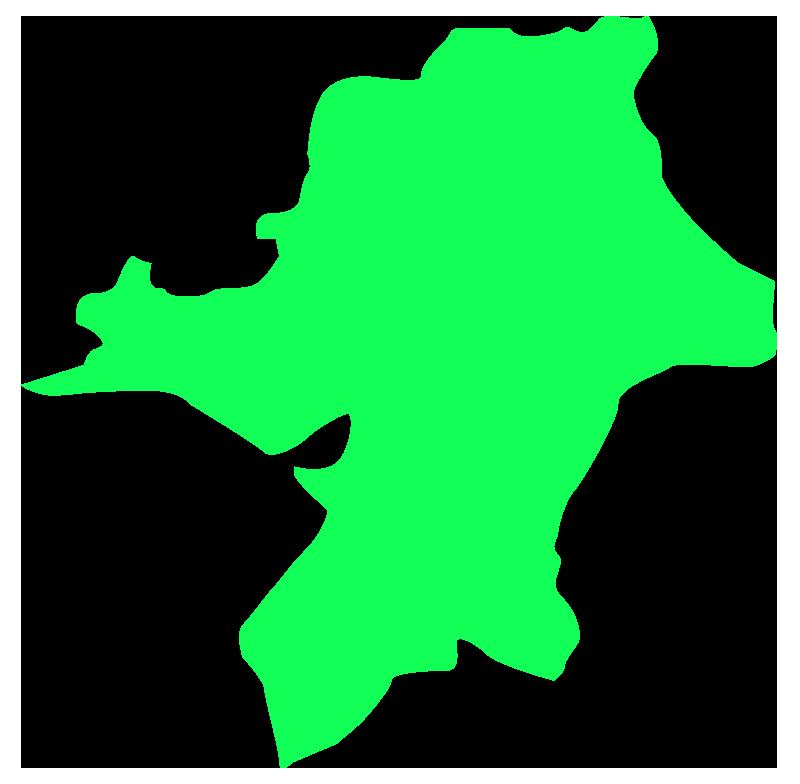 福岡の地図のイラスト