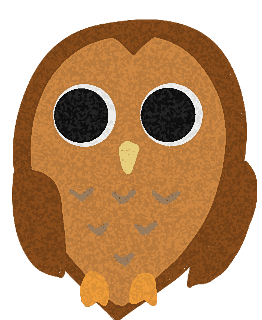 フクロウのイラスト 月と夜のかわいい鳥の画像集 チコデザ