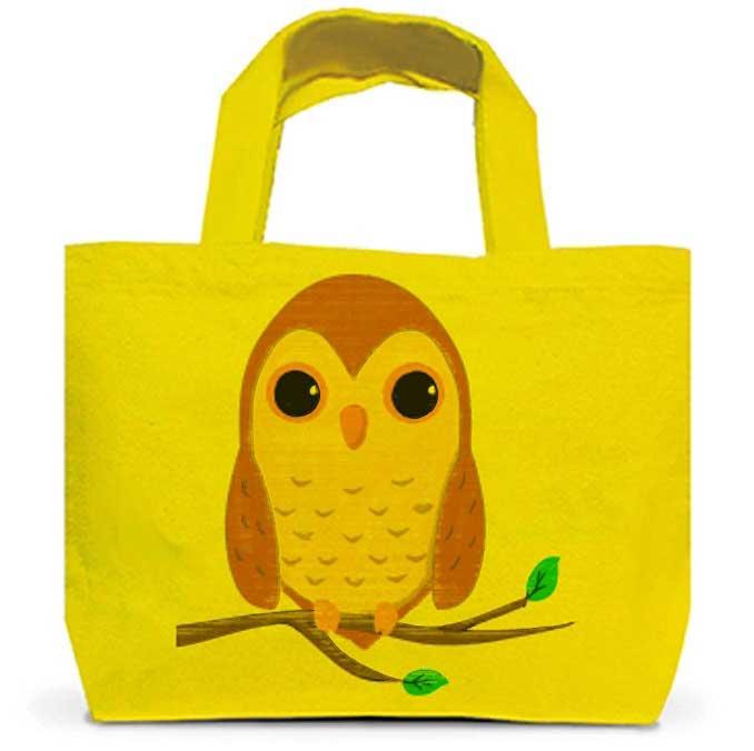 フクロウのトートバッグ