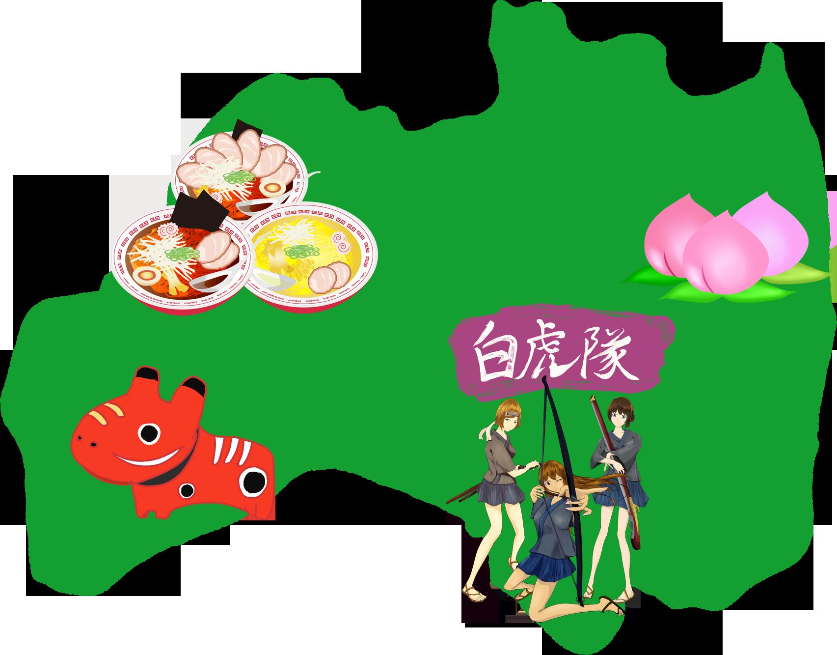 福島の挿絵イラスト