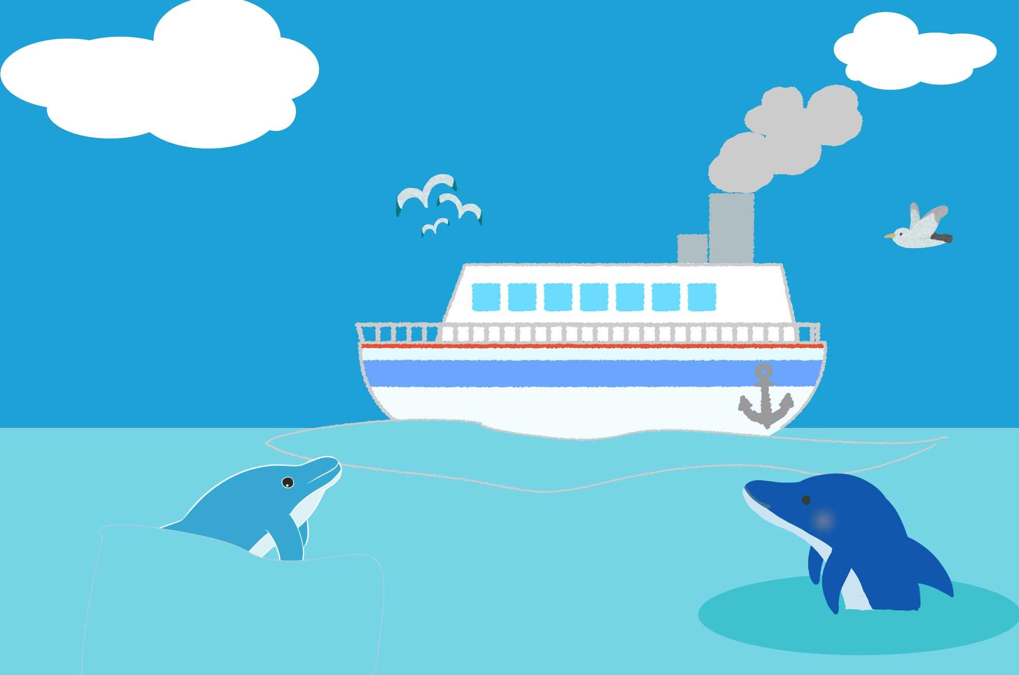 可愛い船のイラスト シンプルな海の乗り物無料素材 チコデザ