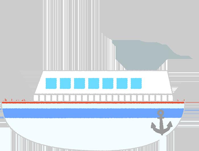可愛い船のイラスト