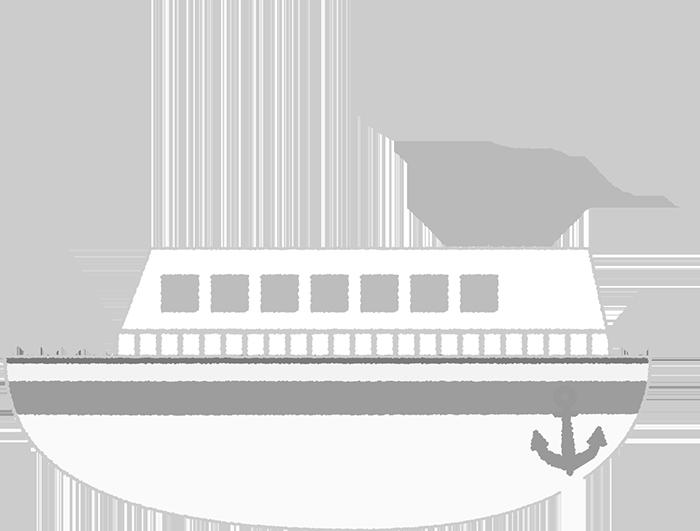 船のイラスト白黒ト