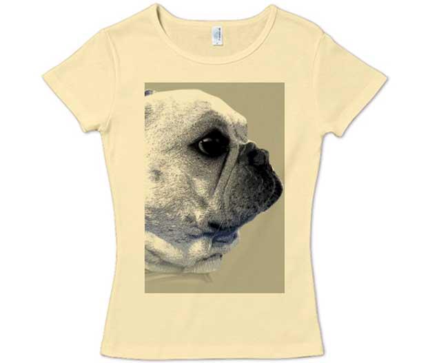 funny-french4フレンチブルドッグTシャツ レディース