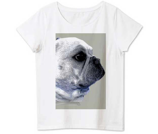 funny-french4フレンチブルドッグ4.6ozレディースTシャツ