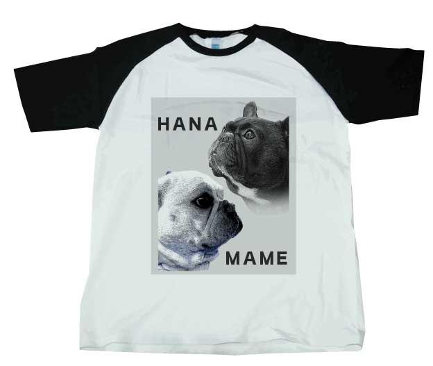 ハナ・マメ ラグランTシャツ ブラック