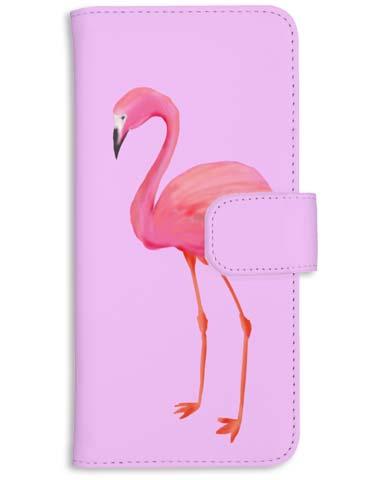 フラミンゴのアートなイラストのスマホ/iphoneケース