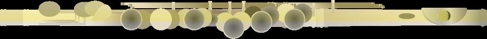 フルートのイラスト(横向き)