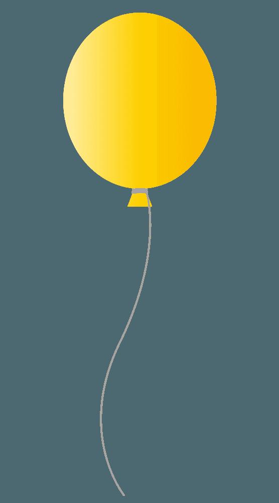 可愛い黄色い風船イラスト