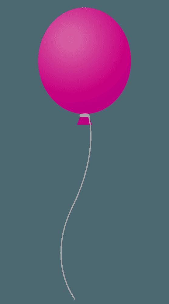マゼンタカラーの風船風船イラスト