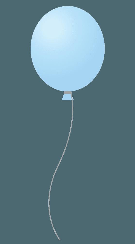 水色の可愛い風船イラスト