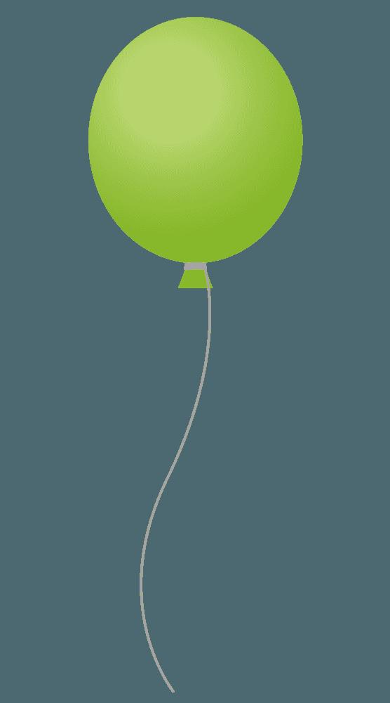 黄緑色の風船風船イラスト