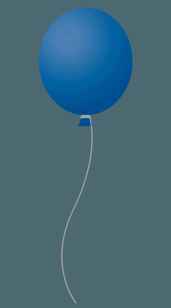 群青色の風船イラスト