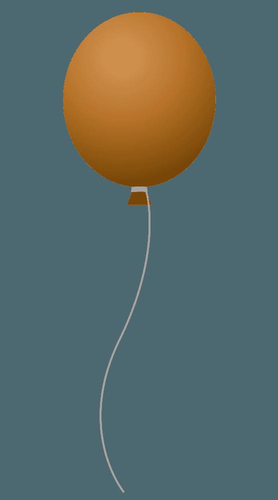 茶色の風船イラスト