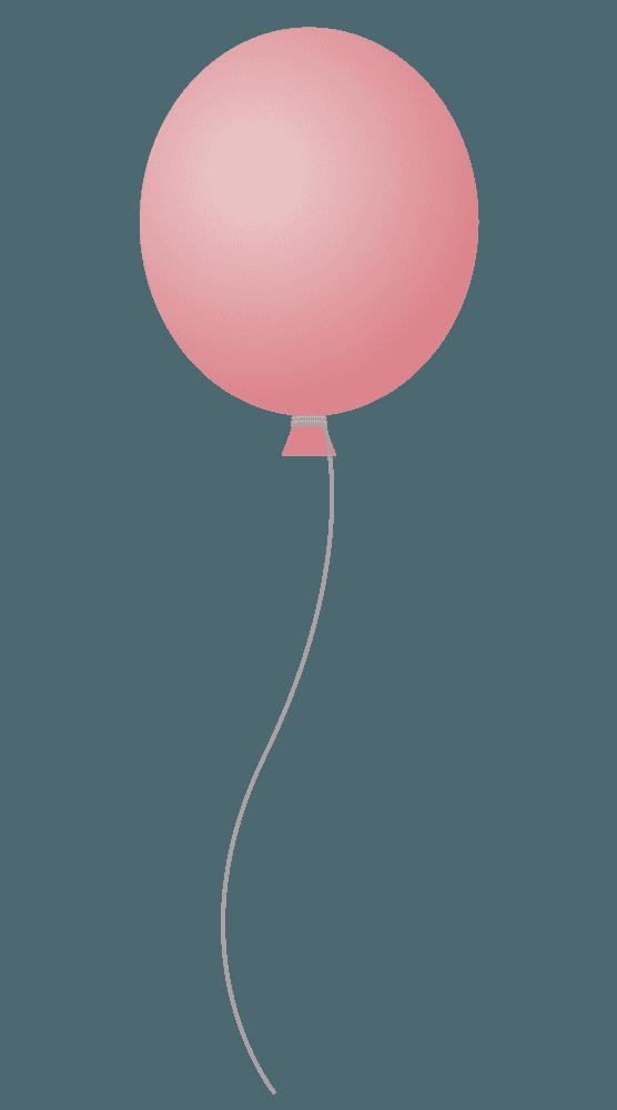 ピンク色の風船イラスト