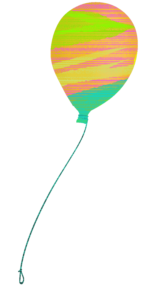 水彩なナチュラル風船イラスト