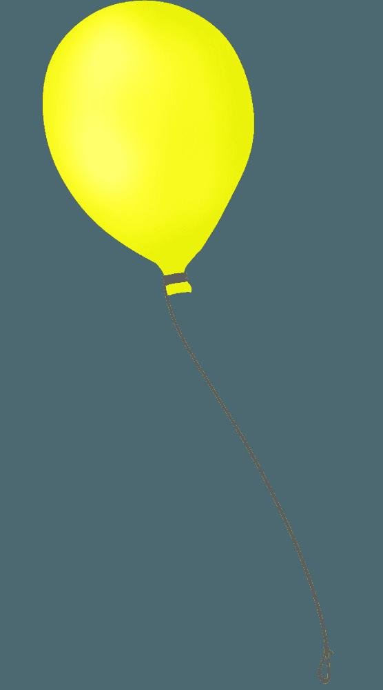手書きの黄色い風船イラスト