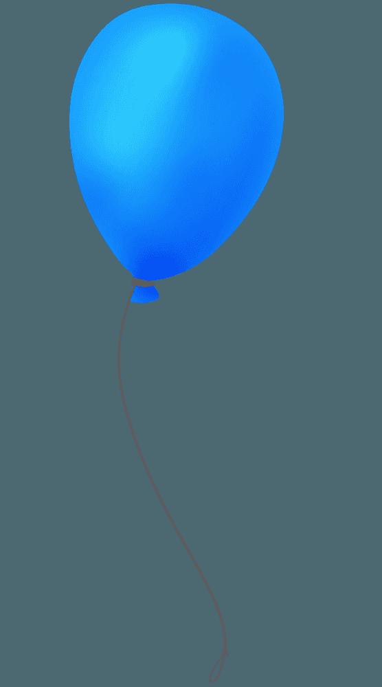 手書きの青い風船イラスト