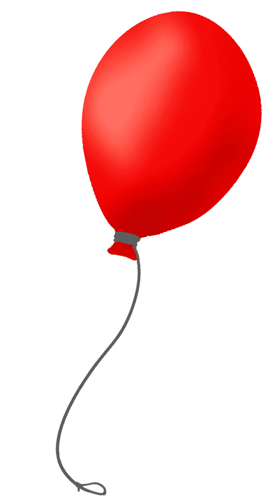 手書きの赤い風船イラスト