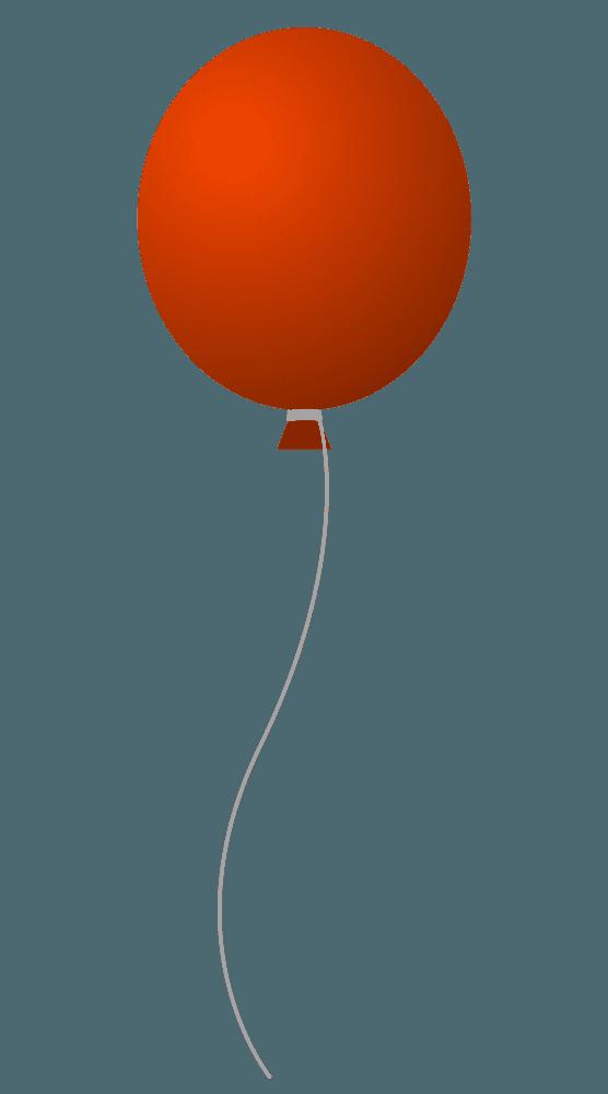 ワインレッドの風船イラスト