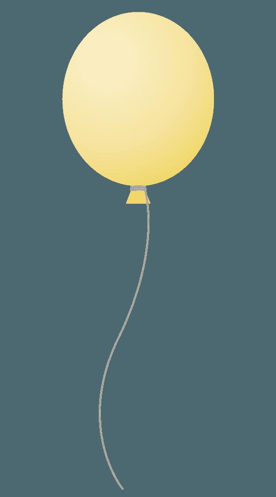 ひよこ色の風船イラスト