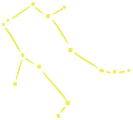 双子座の星図イラスト