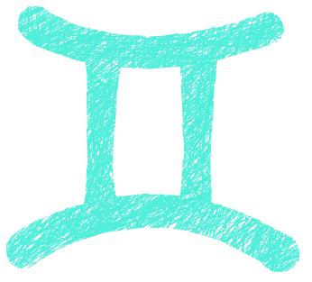 双子座のマークのイラスト