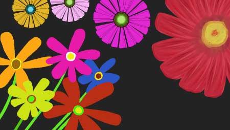 ガーベライラスト - ガーリーイメージに可愛い花の素材☆