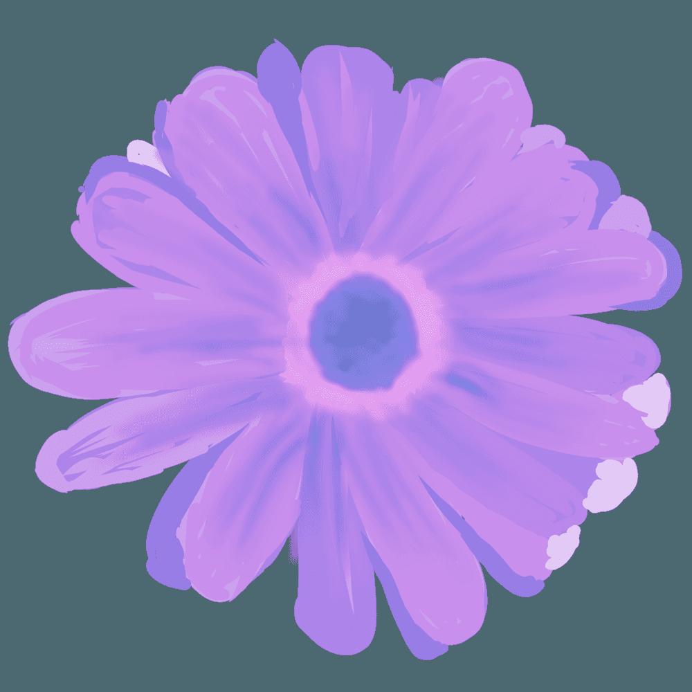 紫色のぼんやりしたガーベライラスト